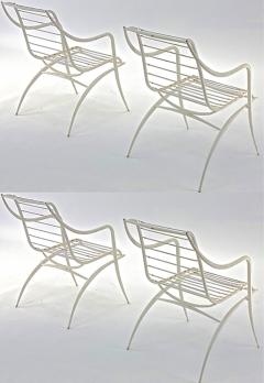 Rene Prou Rene Prou rarest set of 4 outdoor chairs in vintage condition - 1535079