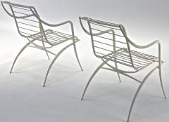 Rene Prou Rene Prou rarest set of 4 outdoor chairs in vintage condition - 1535080