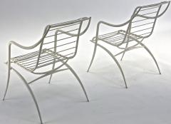 Rene Prou Rene Prou rarest set of 4 outdoor chairs in vintage condition - 1535081