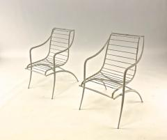 Rene Prou Rene Prou rarest set of 4 outdoor chairs in vintage condition - 1535082
