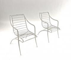 Rene Prou Rene Prou rarest set of 4 outdoor chairs in vintage condition - 1535093