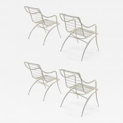 Rene Prou Rene Prou rarest set of 4 outdoor chairs in vintage condition - 1535744