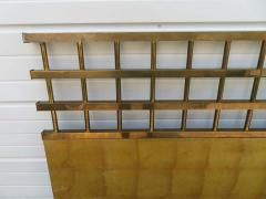 Renzo Rutili Fantastic Renzo Rituli Brass Lattice Style Headboard Midcentury - 1519945