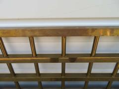 Renzo Rutili Fantastic Renzo Rituli Brass Lattice Style Headboard Midcentury - 1519946