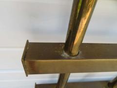 Renzo Rutili Fantastic Renzo Rituli Brass Lattice Style Headboard Midcentury - 1519951