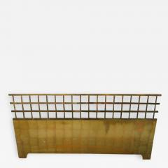 Renzo Rutili Fantastic Renzo Rituli Brass Lattice Style Headboard Midcentury - 1526119