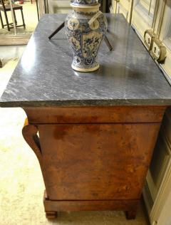 Restauration Period Burl Elm 4 drawer Commode - 1092444