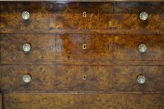 Restauration Period Burl Elm 4 drawer Commode - 1092445