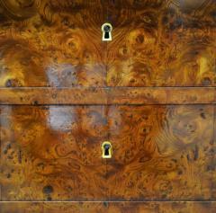 Restauration Period Burl Elm 4 drawer Commode - 1092447