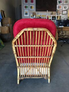 Restored Art Deco Presidents High Stand Stick Rattan Lounge Chair - 1348075
