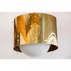 Restored Mid Century Brass Drum Pendants - 1261635