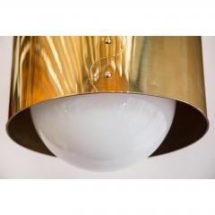 Restored Mid Century Brass Drum Pendants - 1261636