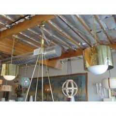 Restored Mid Century Brass Drum Pendants - 1261637