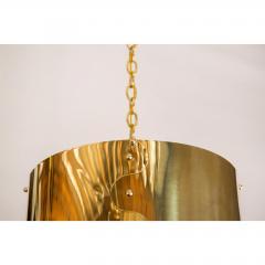 Restored Mid Century Brass Drum Pendants - 1261638