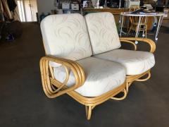 Restored Triple Triangle Sectional Sofa Loveseat w Arched Base - 1347894