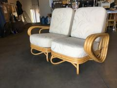 Restored Triple Triangle Sectional Sofa Loveseat w Arched Base - 1347895