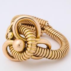 Retro 18k Gold Gas Pipe Bracelet - 634987