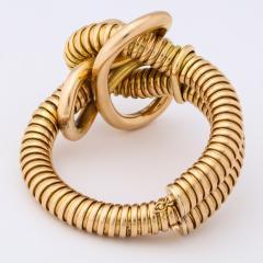 Retro 18k Gold Gas Pipe Bracelet - 634988