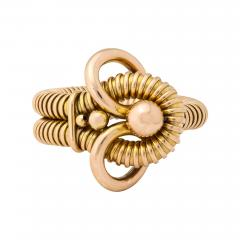 Retro 18k Gold Gas Pipe Bracelet - 636141
