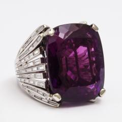 Retro Amethyst and Diamond Cocktail Ring - 325442