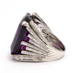 Retro Amethyst and Diamond Cocktail Ring - 325445