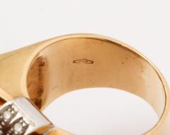 Retro Flip Ring Sapphire Ruby and Diamond 18K - 1534967