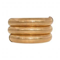 Retro Gold Gas Pipe Wraparound Bracelet - 1990575