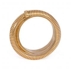Retro Gold Gas Pipe Wraparound Bracelet - 1990576
