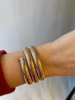 Retro Gold Gas Pipe Wraparound Bracelet - 1990588