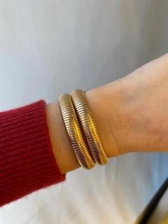 Retro Gold Gas Pipe Wraparound Bracelet - 1990589