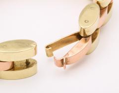 Retro Tank Bracelet in Two Tone 14 kt Gold - 1174365