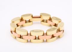 Retro Tank Bracelet in Two Tone 14 kt Gold - 1174369