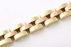 Retro Tank Bracelet in Two Tone 14 kt Gold - 1174372