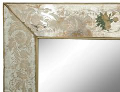Reverse Etched and Painted Mirror - 1990571