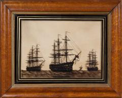 Reverse Painting on Glass of Nelsons Flagship Victory - 63595