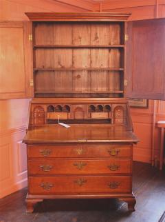 Rhode Island Chippendale Goddard School Secretary Bookcase - 1467894