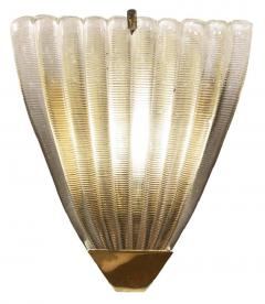 Ribbed Murano Glass Sconces Italy 1960s - 1071154