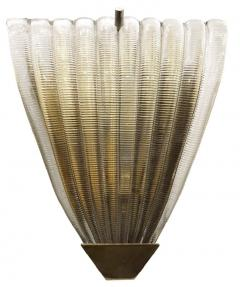 Ribbed Murano Glass Sconces Italy 1960s - 1071155