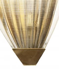 Ribbed Murano Glass Sconces Italy 1960s - 1071156