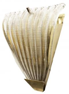 Ribbed Murano Glass Sconces Italy 1960s - 1071157