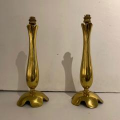 Riccardo Scarpa Pair of Polished Bronze Lamps by Scarpa France 1950s - 1752146