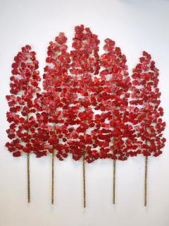 Richard B Smith 3 piece 5 stem translucent Red - 1806033