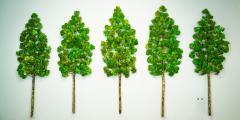 Richard B Smith Aspen Grove 5 pc 5 stem Green - 1670016
