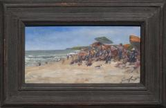 Richard Barnard Chalfant People Watching Oil on Panel by Richard Chalfant - 89604