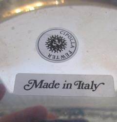 Richard Cipolla A Monumental Italian Pewter Centerpiece Punch Bowl Richard Cipolla - 1323643