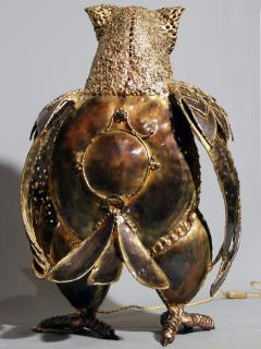 Richard Faure Luminous sculpture owl by Richard Faure - 913378