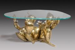 Richard Faure Sculpture Coffee Table Prickly Pear by Richard Faure France circa 1975 - 916822