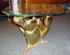 Richard Faure Sculpture Coffee Table Prickly Pear by Richard Faure France circa 1975 - 916823