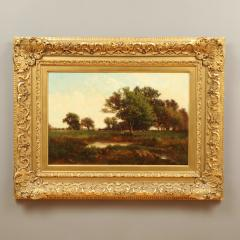 Richard Henry Fuller LANDSCAPE VIEW OF TREES IN A MEADOW - 1908588