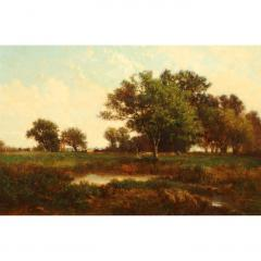 Richard Henry Fuller LANDSCAPE VIEW OF TREES IN A MEADOW - 1908592